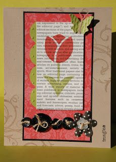 Tulip and  buttons - and a butterfly.(stampcraftpin blog)