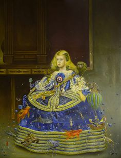 Margarita de Austria in Blue Dress / A painting by Mario Soria / I saw this painting at Gallerie Timothy Tew, in Atlanta, this afternoon.  Amazing!
