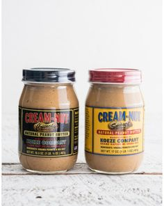 CREAM NUT NATURAL PEANUT BUTTER. The Koeze Family roast and grind Virginia peanuts, then add a pinch of salt. Each batch is hand made, and after 80 years we trust they know what they're doing. Choose Crunchy or Smooth! $8.00