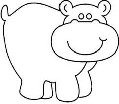 Free Printable Coloring Image Hippo Page 0001
