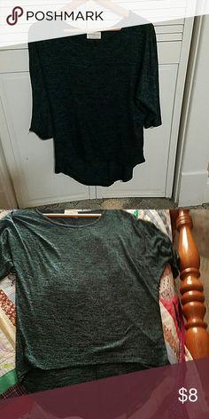 "Size medium fits like XL green shirt. Very cute shirt. Size medium.  24"" from armpit to armpit. Stretchy material Tops Blouses"