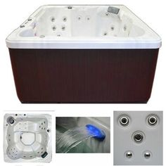 Hot-Tub-Spa-Heater-Machine-Led-Light-Jacuzzi-6-Person-Outdoor-Cover-Massage-New