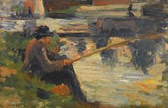 Fishing Meudon by Maximilien Luce | Art Posters & Prints