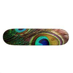 Peacock Feathers 4 Skateboard