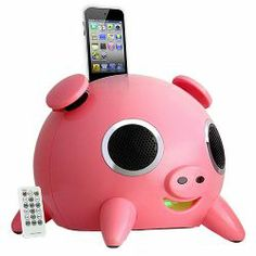 iPig Docking Station Speaker with Remote Control for iPod / iPhone (Pink) | click here to buy!!!
