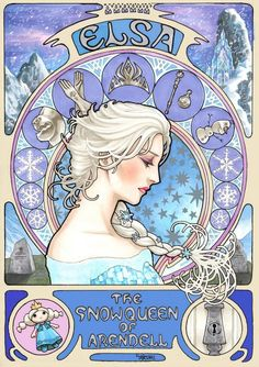 Elsa - Frozen ( Hidden Mickey has five ) @takumitoxin on Twitter