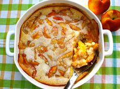 Sweet Summertime Peach Cobbler - try with sprouted flour and a natural sugar