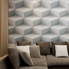 29.70$  Know more - http://ai22o.worlditems.win/all/product.php?id=32663778003 - Hanmero 3D Effect Geometric Pattern Modern Simple style Wallpaper Waterproof Vinyl Material Wallpaper QZ0421