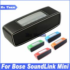 NEW Portable Travel Case Cover Protector Carry Pouch PU Leather Bumper For Bose SoundLink Mini Bluetooth Speaker Price: USD 4.98 | United States