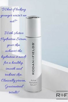 Did you know dryness makes your skin look and act older? R+F Active Hydration Serum is clinically tested to instantly raise skin's hydration level by 200% after just one use! That's a pretty powerful and specific claim right? Well it's true! And we have tons of Before After Pictures of our customers to prove it! See how smooth, soft and radiant looking your skin can be when it's truly hydrated! Message me for more details!