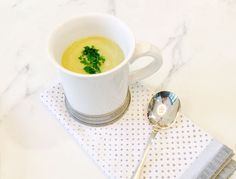 Celery root replaces potatoes in our detox version of vichyssoise (but any root vegetable will do). This simple soup can easily be made vegan with vegetable stock.