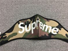 This Supreme Face Mask is available in 3 colors (Red, Black and Camo). Supreme Accessories, Camo, Masks, Camouflage