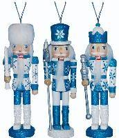 ORN008: 6 inch Nutcracker Ornaments - Set of 3 Snow Fantasy