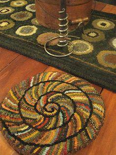 spiral chair rug