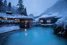 Oooh, I definitely have to visit Nyuto Onsen-kyo. It's a hot spring village in Akita Prefecture. A mysterious and secluded region in about 4 hours from Tokyo Station or about 2 hours from Akita Airport. 7 hot spring inns with a wide variety of #HotSprings and meals await. #japan