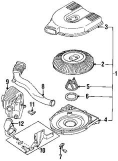 KA24E intake system exploded diagram
