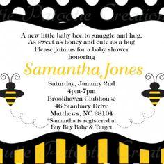 Bumble Bee Baby Shower Invitation Bumble Bee Baby Shower Invites Pr......   CutiePatootieCreations - Digital Art on ArtF