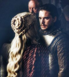 U will be ruling over a graveyard. If we don't defeat the night king. U will be ruling ov Game Of Thrones, Khaleesi Hair, Celtic Braid, Jon Snow And Daenerys, My Champion, Night King, Mother Of Dragons, Braided Hairstyles, Nerdy Hairstyles