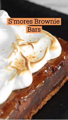 Fun Baking Recipes, Sweet Recipes, Dessert Recipes, Tastemade Recipes, Brownie Bar, Brownie Recipes, Dessert Bars, Just Desserts, Love Food