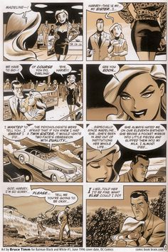 Page from Batman Black and White by Bruce Timm