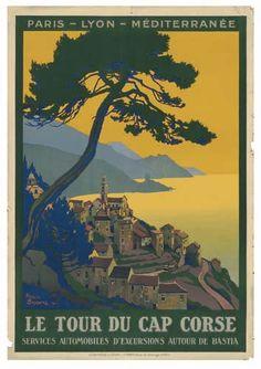 PLM - Le tour du Cap Corse - 1923 - illustration de Roger Broders - France -