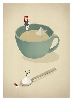 Le petit monde - Illustrations by Sara Olmos, via Behance