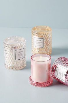 Voluspa Rose Cloche Candle by in Pink, Candles at Anthropologie Large Candles, Pillar Candles, Candle Jars, Candle Gifts, Candels, Fancy Candles, Wax Candles, Unique Candles, Good Burns