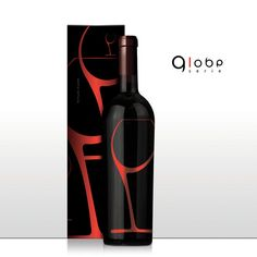 Modern and sheik #packaging #design for Globe Serie #Wine