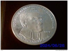 MONETA ARGENTO 20 BALBOAS PANAMA *SIMON BOLIVAR * ANNO 1971
