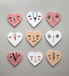 DIY Clay Heart Face Magnet Valentines