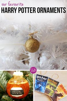 How amazing are these DIY Harry Potter Christmas Ornaments? The snitch is…