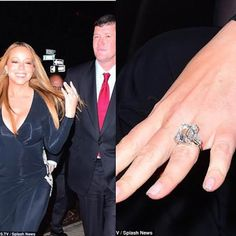 Check out Mariah Carey's $7.5million engagement ring #expensive rock     Mariah Carey who got engaged to beau billionaire businessman James Packer got this amazing 35-carat rock which experts have estimated is in excess of $5million and could even be up to $7.5million based on the quality of the cut. More photos after the cut...   entertainment fashion