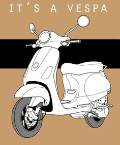 it's a vespa. still practicing with illustrator. practice-practice...