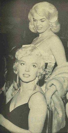 Marilyn Monroe w/ Jane Mansfield behind. Not sure about Jane