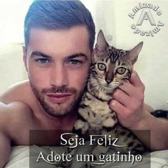 Hot Dudes With Pets - Official ( Meninos Country, Men With Cats, Man Beast, Adoption Day, Love Your Smile, Beautiful Men Faces, Male Eyes, Raining Cats And Dogs, Man And Dog