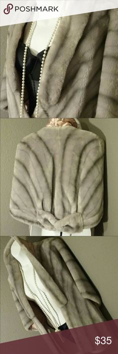 Faux Mink Stole by Belfiore Malden Ltd. Take a stroll down memory lane back to the 50's with this beautiful vintage faux mink stole. Clean, fresh smell. Goes perfect with a pair of jeans and some heels or with a little black dress. You decide 😊 Malden Ltd Jackets & Coats Capes