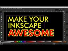 HOW TO MAKE YOUR INKSCAPE LOOK AWESOME - Tutorial for Complete Beginners... Inkscape Tutorials, Cnc, Computers, The Creator, Graphic Design, Make It Yourself, Learning, Awesome, Image