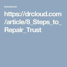 steps rebuild trust