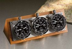 So, when I was going through Sinn's catalog for yesterday's post, I had something completely different catch my eye that I wanted to bring up. Cool Watches, Watches For Men, Gifts For Hubby, Time Design, Desk Clock, Sweet Nothings, Cool Stuff, Stuff To Buy, Clocks