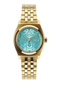 The Small Time Teller. The unexpected always adds a little drama and The Small Time Teller is causing a scene. The slim, feminine design is draped in unique metal tones and complimentary colors that make for a standout statement.