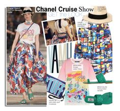 """""""Chanel Resort 2017 -Get The Look"""" by kusja ❤ liked on Polyvore featuring House of Holland, Chanel, Moschino, Eugenia Kim, Braccialini, GetTheLook, Summer, Resort and fashionshow"""