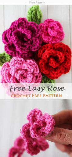 Free Crochet Flower Patterns Crochet Pinterest Free Crochet