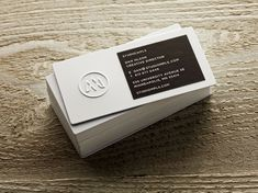embossed logo on business card