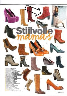 Loints of Holland in dutch magazine Stijlvolle mama's. Red leaf boots, leather from Italy, great fit.