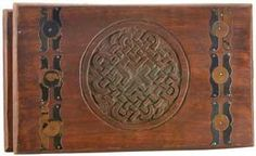 """Celtic Knot Wooden Chest 10""""x6"""""""
