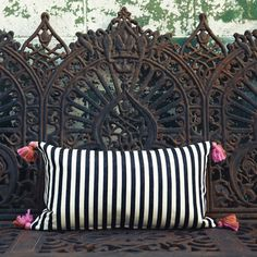 """Cirque 14"""" x 24"""" Pillow / Proud Mary.  PILLOW???  Look at that backdrop.  Bench??  Love it"""