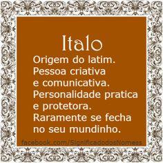 Significado do nome Italo | Significado dos Nomes