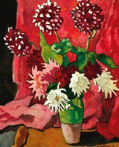 LOUIS VALTAT 1869 - 1952 Bouquet De Dahlias