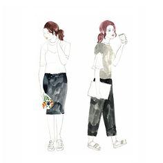 #doodle #낙서 #illust #illustration #イラスト #일러스트 #그림 #絵 #드로잉 #drawing #패션일러스트 #fashionillustration