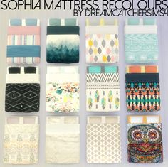 Sophia Mattress Recolours at DreamCatcherSims4 via Sims 4 Updates